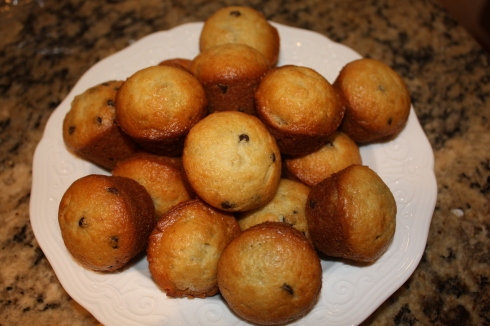 Banana muffins - after