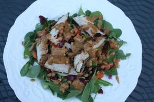 Peanut Dressing Salad