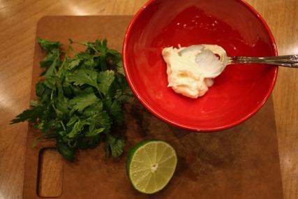 Cilantro lime mayo