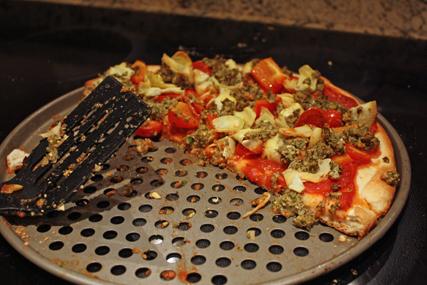 pizza half eaten