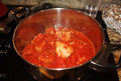 Tomato soup, before