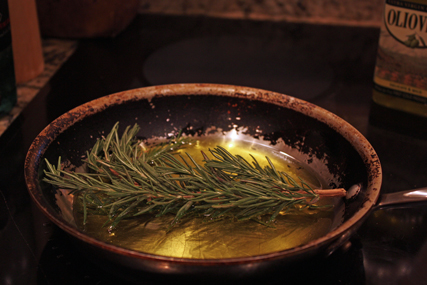 oil and rosemary