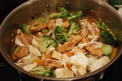 stir fry in pan